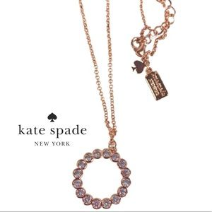 New Kate Spade Full Circle Rose Gold Necklace